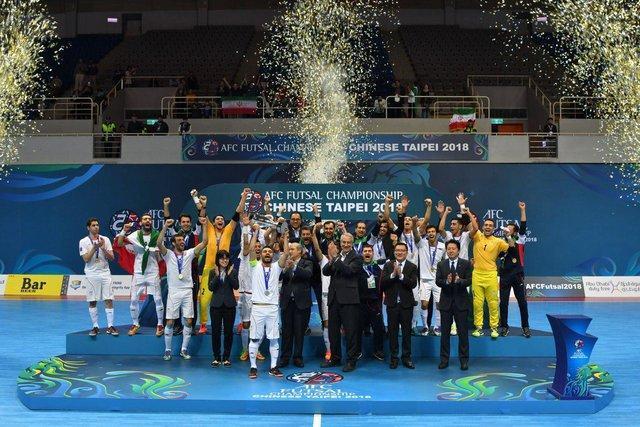 پیغام تبریک شیخ سلمان برای قهرمانی فوتسال ایران در آسیا