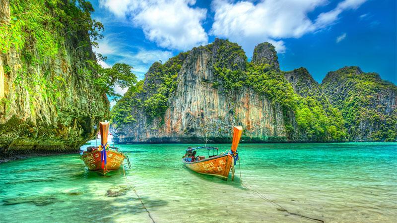 خلیج زیبای مایا در تایلند