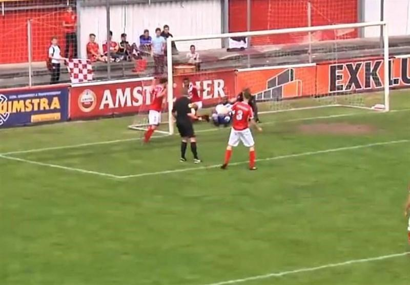 گلزنی یک داور در لیگ هلند!