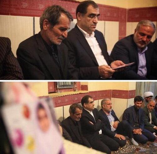 دیدار وزیر بهداشت با خانواده یکی از قربانیان حادثه مدرسه دخترانه زاهدان