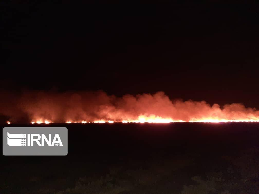 خبرنگاران آتش سوزی در جنگل های کرخه شوش مهار شد