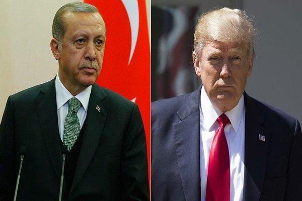 اردوغان و ترامپ درباره تنش در شرق مدیترانه گفتگو کردند