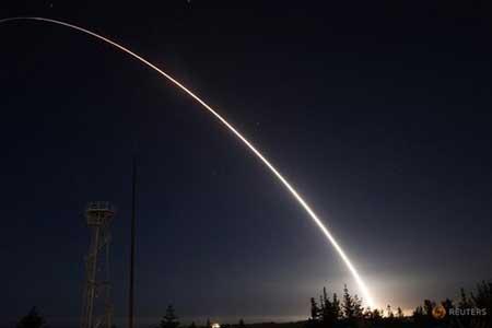 پرتاب آزمایشی موشک بالستیک قاره پیما توسط آمریکا