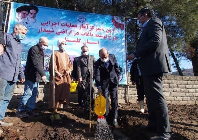 عملیات اجرایی طرح توسعه باغات در اراضی شیبدار گلستان