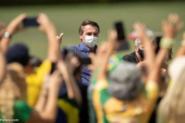 (ویدئو) جشن تولد رئیس جمهور برزیل در جمع طرفدارانش