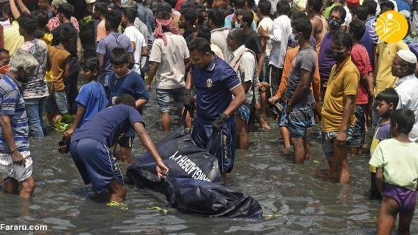 (تصاویر) غرق شدن مرگبار یک کشتی در بنگلادش